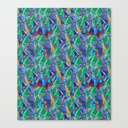 Crystal Shards in Oil Slick Rainbow Aura Canvas Print