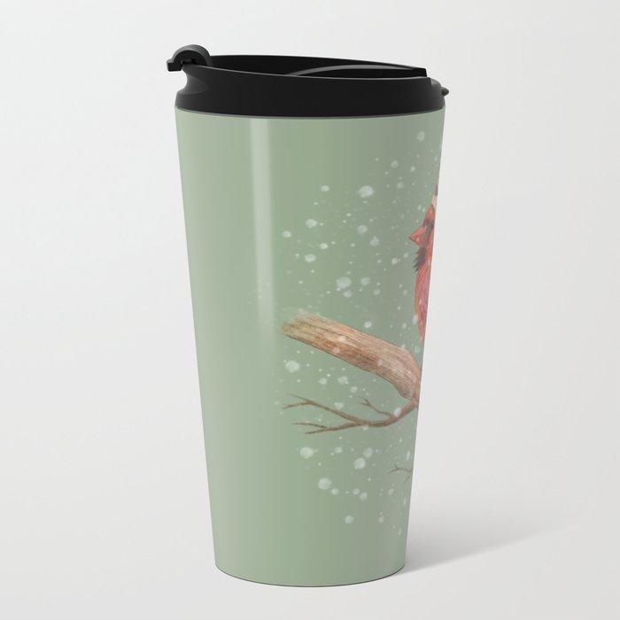 First Snow  Metal Travel Mug