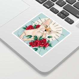 Ramona in flowers Sticker