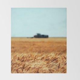 Golden Crop Throw Blanket