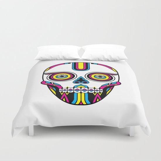 CMYK Skull Duvet Cover