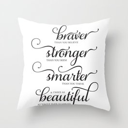 Always Remember - Printable art wall decor, Inspirational quote Throw Pillow