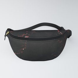 Dark Red Marble Fanny Pack