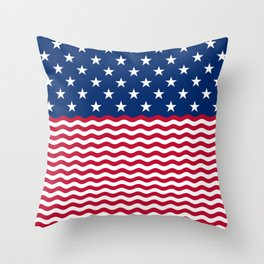 Stars & Waves Throw Pillow