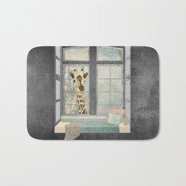 Bay Window Giraffe Bath Mat