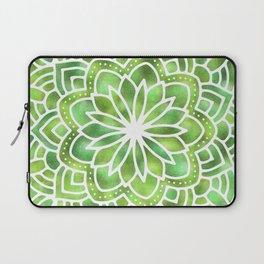 Mandala Green Leaves Laptop Sleeve