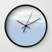 alisa burke Wall Clocks featuring PAYSAGE by RUEI