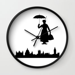 marry poppins Wall Clock