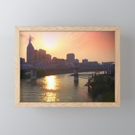 Nashville Dusk Framed Mini Art Print