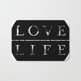 love life Bath Mat