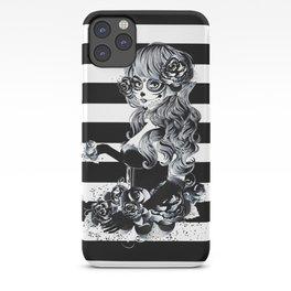 Black & White Sugar Skull Girl iPhone Case