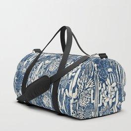 Indigo cacti Duffle Bag
