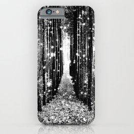 Magical Forest Black White Gray iPhone Case