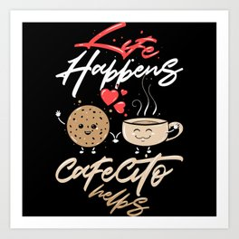 Funny Spanish Coffee Blend Motif Art Print