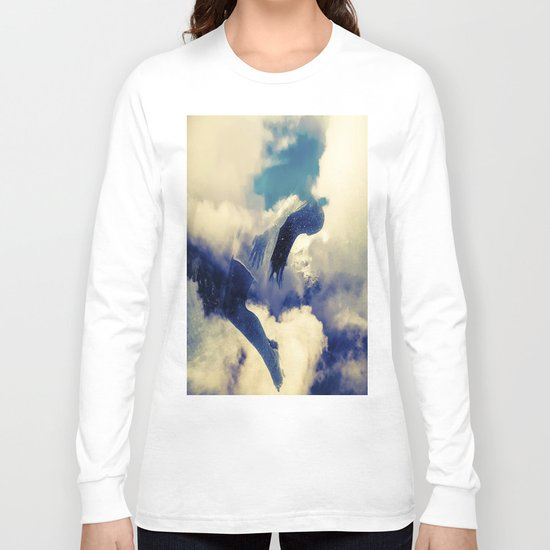 Woman and sky Long Sleeve T-shirt