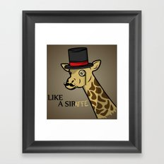 Like A Siraffe Framed Art Print