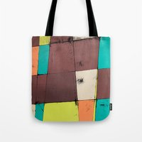 hot air balloon Tote Bags featuring Hot Air Balloon II by Monty