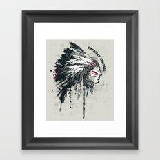 American Heritage (White) Framed Art Print