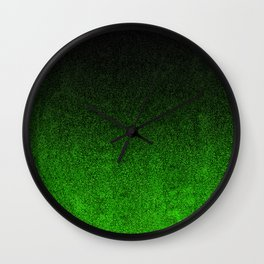 Green & Black Glitter Gradient Wall Clock