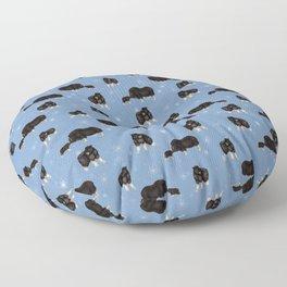 Baby Musk Oxen - Arctic Blue Floor Pillow