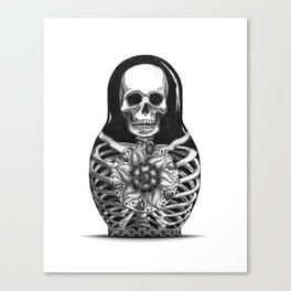 Matryoshka Skelton Doll Canvas Print