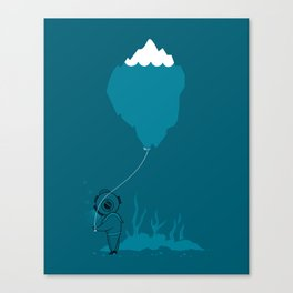 The Diver and his Balloon Canvas Print
