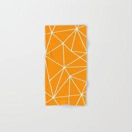 Geometric Abstract Pattern, Bright Orange Hand & Bath Towel