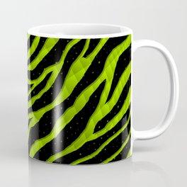 Ripped SpaceTime Stripes - Lime Coffee Mug
