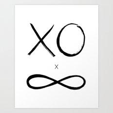 XO times Infinity Art Print