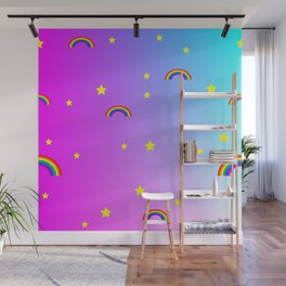 rainbow patterns Wall Mural