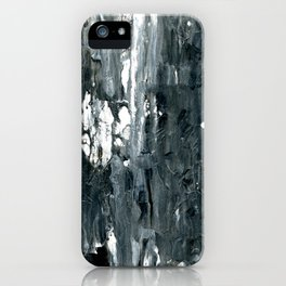 Tear Black & White Textured Abstract no.1808 iPhone Case