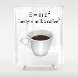 Coffee E=mc2 Shower Curtain