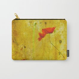 Poppies In The Golden Garden Carry-All Pouch