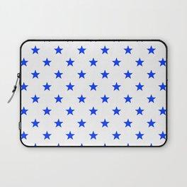 Stary stars - blue stars pattern Laptop Sleeve