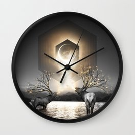 Moon Dust In Your Lungs Wall Clock