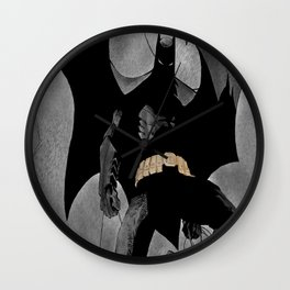 bat man digital drawing  Wall Clock
