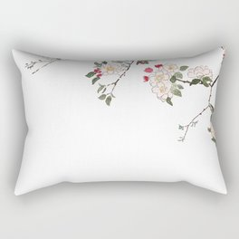 pink cherry blossom Japanese woodblock prints style Rectangular Pillow