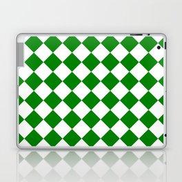 Diamonds - White and Green Laptop & iPad Skin