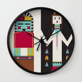 Kachina Dolls Wall Clock
