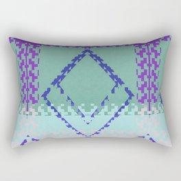 Purple mint green and blues diamond Aztec inspired Design Rectangular Pillow