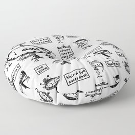 i am (lots of wonderful things) Floor Pillow