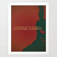 donnie darko Art Prints featuring Donnie Darko by C&F Prints