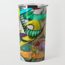 Blond Girl Sleeping Illustration Travel Mug