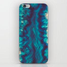 Blue Agate River of Earth iPhone Skin