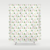 hiking Shower Curtains featuring Hiking by S. Vaeth
