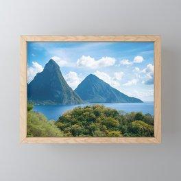 The Pitons, St. Lucia Framed Mini Art Print