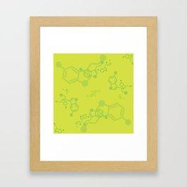 serotonin leaves Framed Art Print