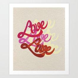 Love Multiplied Art Print