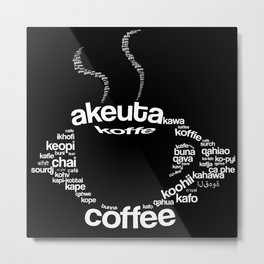 Coffee around the world Metal Print