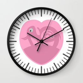 Pregnant Elephant Heart Wall Clock